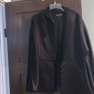 Gorgeous black satin Giorgio Armani jacket.